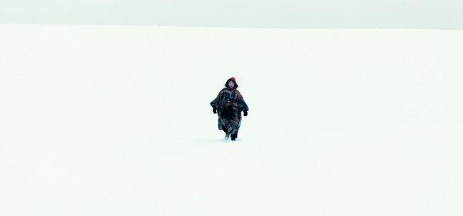 Rinko Kikuchi as Kumiko in the vast winter scenery of Minnesota