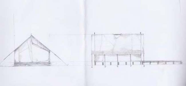 Sketches by Macbeth's production designer, Fiona Crombie
