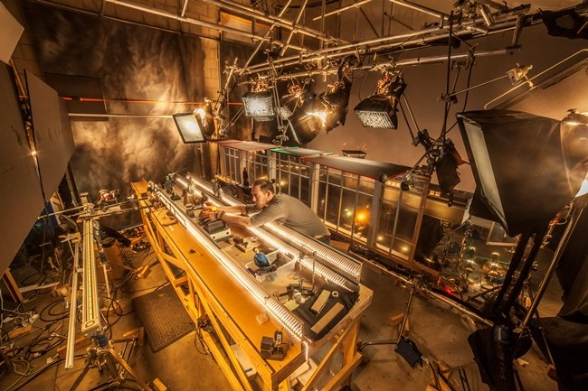 """Lead animator Drayson Helberg on the set of Anomalisa. Photograph by Chris """"Toots"""" Tootell"""