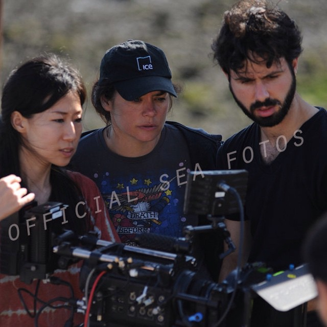 Writer/Director @jordan_bayne #onset of THE SEA IS ALL I KNOW with the incredible #cinematographer Eun-ah Lee and 1st AC Mike Drucker. #RedOne with #Zeiss Primes. Check out the beautiful images of the film on #Vimeo  https://vimeo.com/59952384