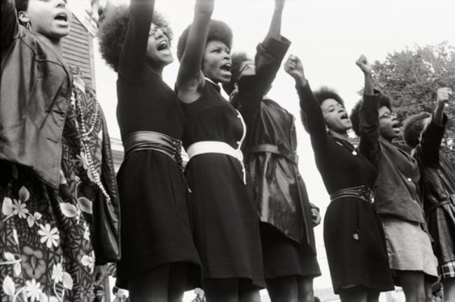 A Black Panther rally in Sacramento from the documentary The Black Panthers: Vanguard of a Revolution