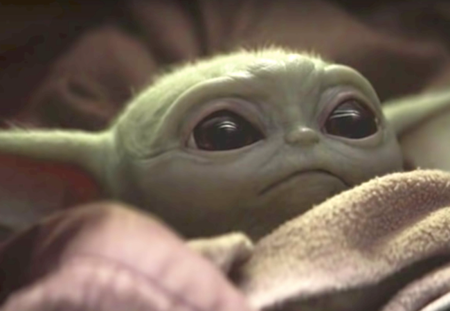 How does Baby Yoda Movie News mudhorn