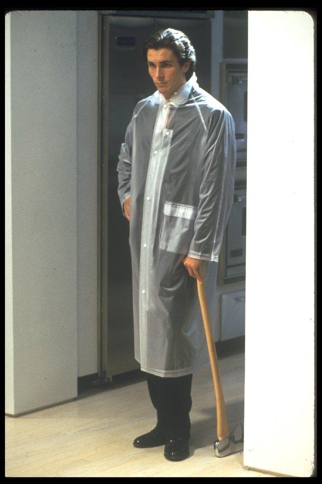 Christian Bale raincoat American Psycho