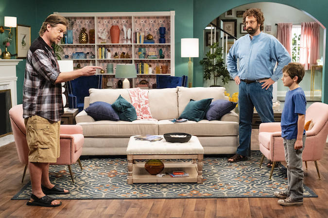 Tim Heidecker (L), Eric Wareheim and their sandals on the new Tim and Eric series Beef House