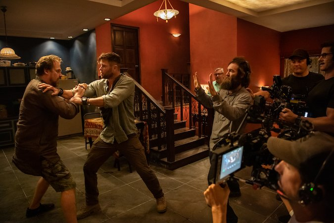 Sam Hargrave directs Chris Hemsworth and David Harbour Chris Hemsworth