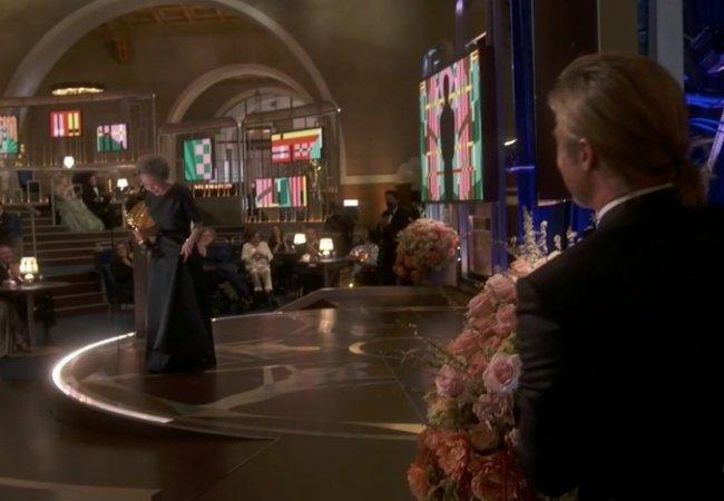 Yuh-jung Youn and Brad Pitt Oscars Minari