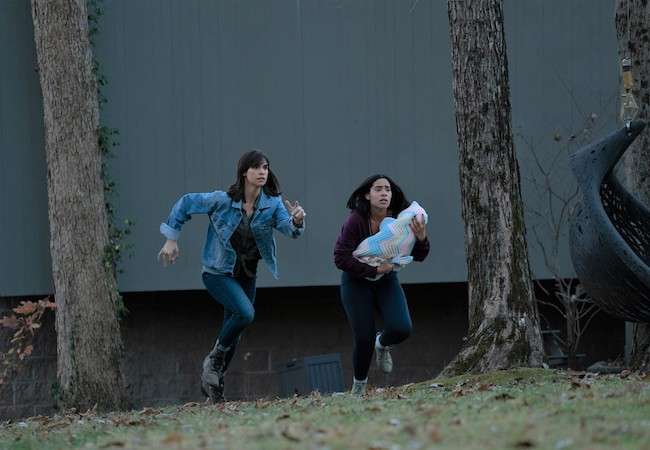 Lifetime Movie You're Not Safe Here Sarah Wisser (L) and Haskiri Velazquez (R)