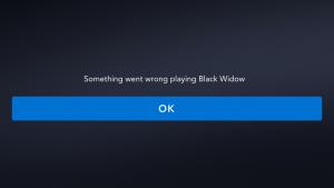Black Widow Disney+ not playing