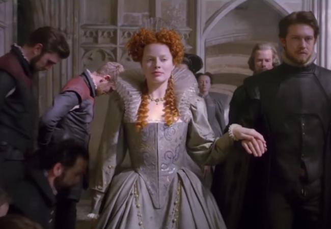 Mary Queen of Scots piecrust collar Margot Robbie Queen Elizabeth