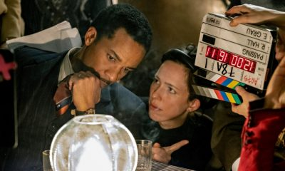 PRODUCTION -CAPTION - ANDRE Holland and Rebecca Hall on the set of Passing. Photo by Emily V. Aragones - Netflix - MAIN IMAGE