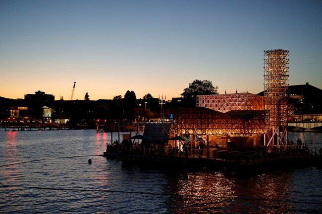 The floating theater on Lake Zurich