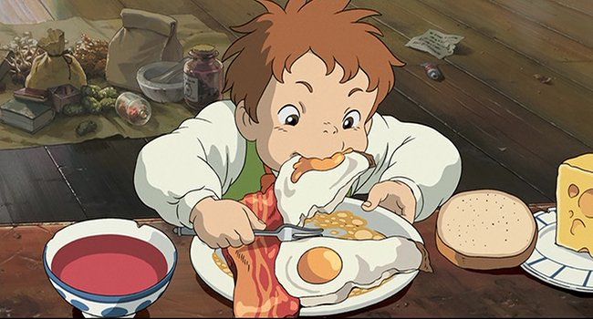 Image result for howl's moving castle food