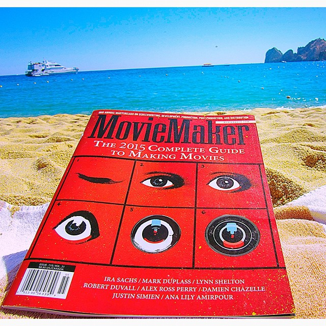 MovieMaker sure gets around. It's not just read in the comforts of your home or referenced on set during a production, but also ends up in unique places all around the world. We'd love to hear from you and where you read MovieMaker. Email instagram@moviemaker.com your favorite photo of MM and we just might post it here. To get the ball rolling, here's a copy soaking up sun and surf on Medano Beach in Mexico. #Instagram #MovieMakerMag #loscabos #AroundtheWorld