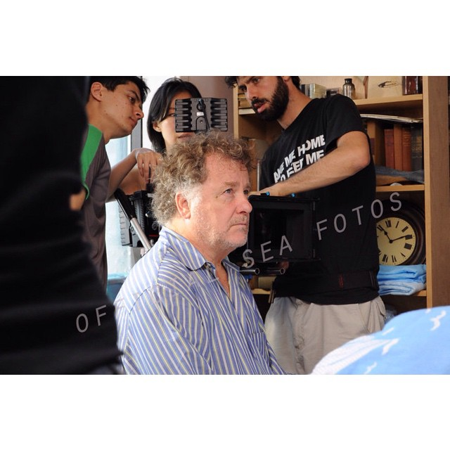 #Cinematographer Eun-ah Lee works the frame and light with the ultimate gaffer James  Usmanov and 1st AC Mike Drucker for the film THE SEA IS ALL I KNOW. The incredible actor's #actor Peter Gerety in character for this heart breaking #scene.