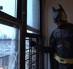 Mukunda Angulo impersonates the Dark Knight in The Wolfpack. (Courtesy of Magnolia Pictures)