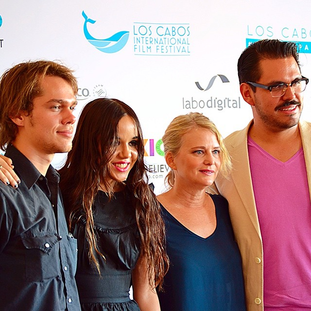 Actors Ellar Coltrane and Lorelei Linklater along with producer, Cathleen Sutherland, from BOYHOOD, next to Los Cabos Film Festival Director, Alonso Aguilar-Castillo. #loscabos #CaboFilmFest #unstoppable #film #moviemaker #moviemaking #filmfestival #boyhood #ellarcoltrane #loreleilinklater #cathleensutherland #alonsoaguilarcastillo #richardlinklater