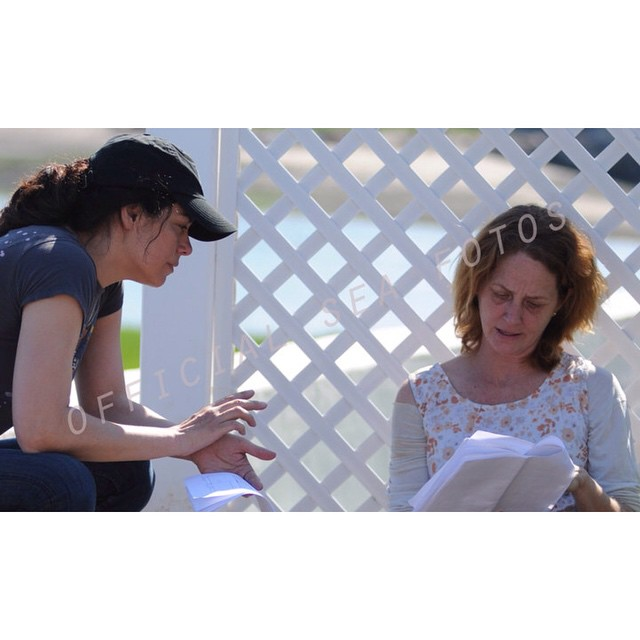 Writer/Director @jordan_bayne gives insight into the story for #Oscar winner #MelissaLeo #onset of their film THE SEA IS ALL I KNOW.