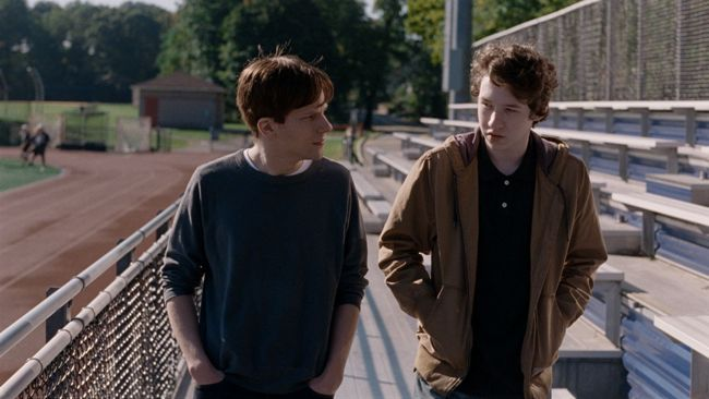 Jesse Eisenberg as Jonah and Devin Druid as in Louder Than Bombs. Photograph by Jakob Ihre