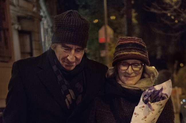 Sam Waterston as Walter Zarrow and Glenn Close as his wife Marcia in Anesthesia. Photograph by Anna Kooris