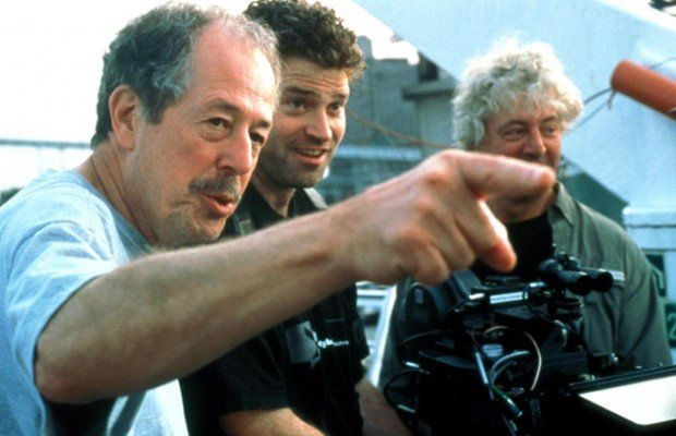 Denys Arcand on set of The Barbarian Invasions.