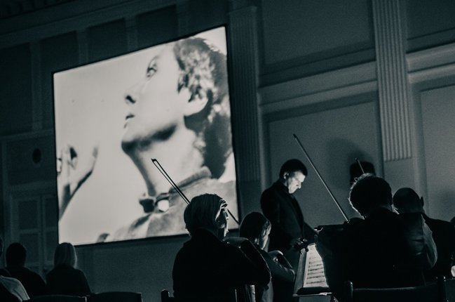 A concert of cinematic music at the 2014 Black Nights Film Festival. Photograph by Vladislava Snurnikova