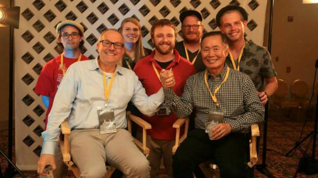 Brad and George Takei at the Hot Springs Documentary Film Festival.