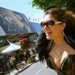 Patricia Chica wearing latex at Cannes 2014