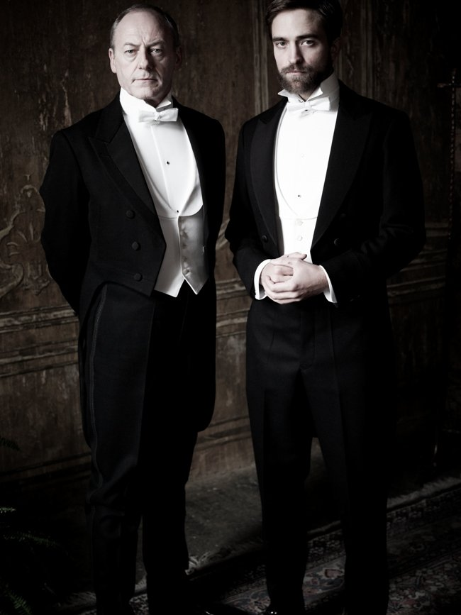 Liam Cunningham and Robert Pattinson in The Childhood of a Leader