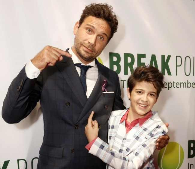 Jeremy Sisto and co-star Joshua Rush at a Los Angeles screening of Break Point