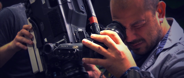 Cameras Mihai Malaimare (The Master) preps the camera for the perfect shot JS
