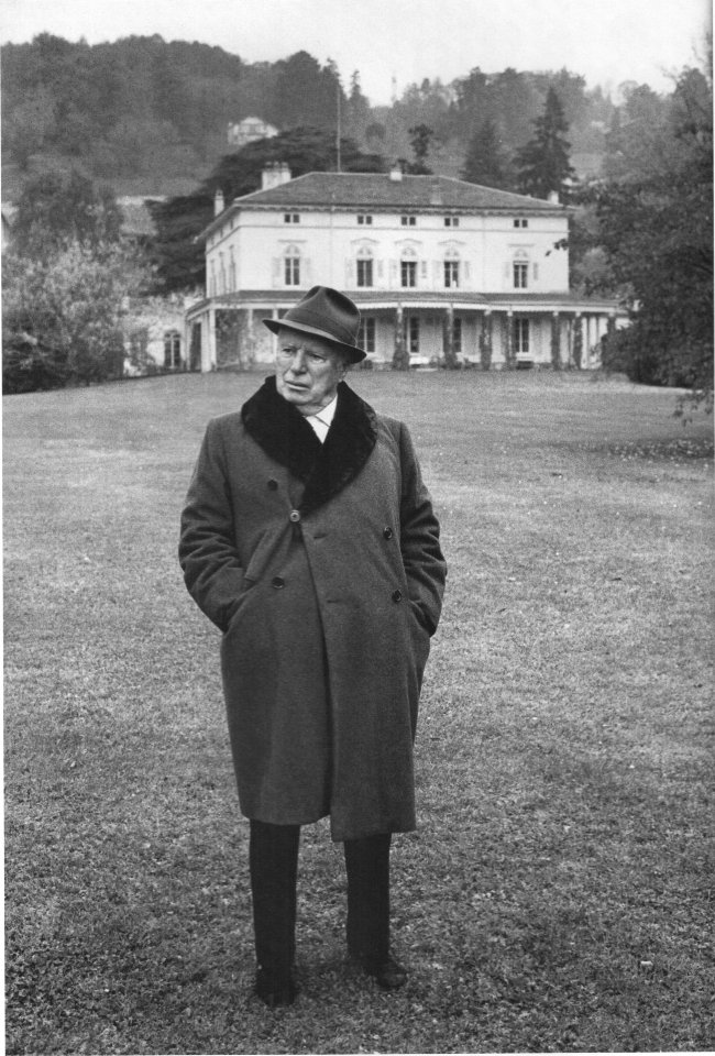 Charlie Chaplin at his mansion, Manoir de Ban, now part of Chaplin's World Credit: Courtesy of Roy Export Co. Est.