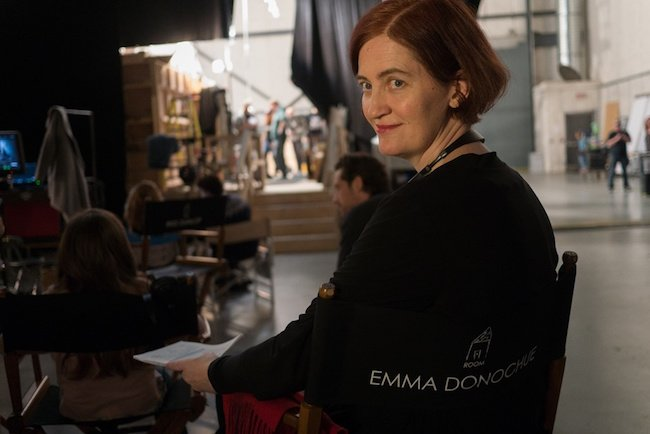 Writer Emma Donoghue oversees her novel's adaptation on the studio set of Room