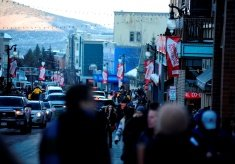 General atmosphere of Main Street in Park City, Utah during Day 3 of Sundance Film Festival 2013.