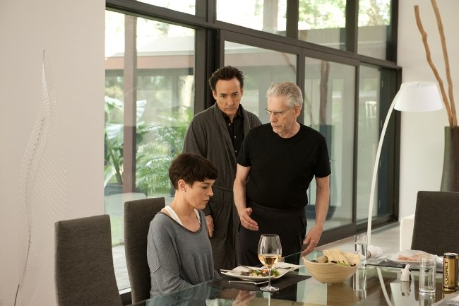 Olivia Williams, John Cusack and Cronenberg on set in L.A.
