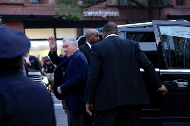 Robert De Niro arrives at the Beacon Theater for the 40th anniversary screening of Taxi Driver