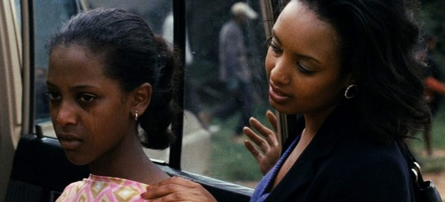 Tizita Hagere as Hirut Assefa and Meron Getnet as Meaza Ashenafi