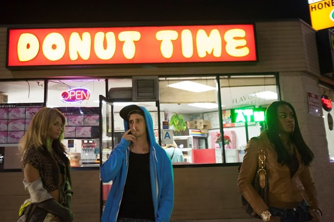 Sin-dee (Rodriguez), Chester (Ransone) and Alexandra (Taylor) at Donut Time on Santa Monica Boulevard and Highland Avenue