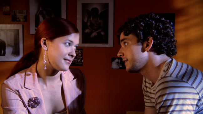 Elizabeth Kapplow and Michael Urie in WTC View