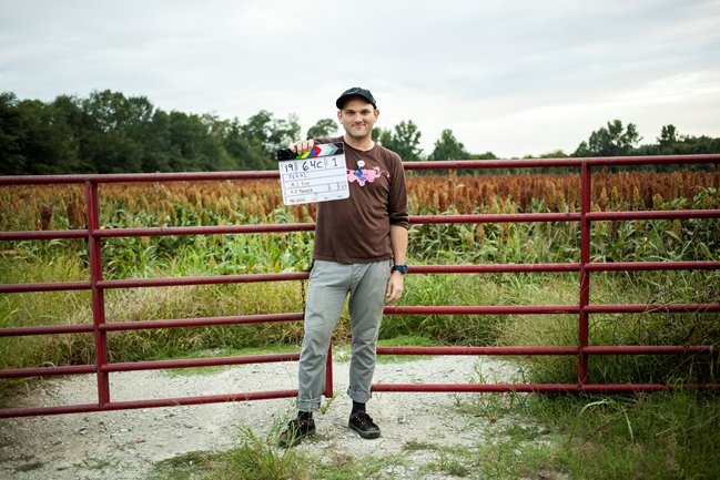Morgan Jon Fox shoots the web series Feral for Sawed-Off Collaboratory Productions in Memphis. Photograph by Breezy Lucia