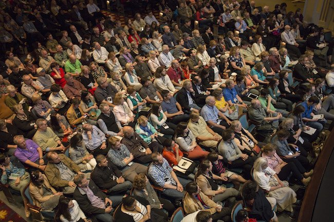 Audience in Fletcher Hall before Meru. Courtesy of Full Frame.