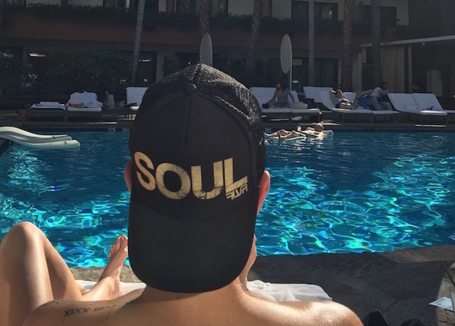 Ironies abide poolside at the Roosevelt Hotel