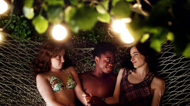 Grace Melon (left), Daniel Kyri (center) and Melanie Neilan (right) in HENRY GAMBLE'S BIRTHDAY PARTY - Courtesy of Wolfe Video web