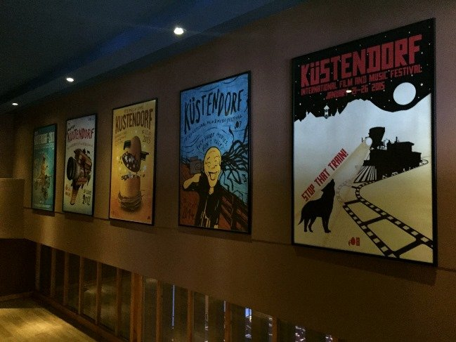 Posters of previous iterations of the festival, now in its eighth year