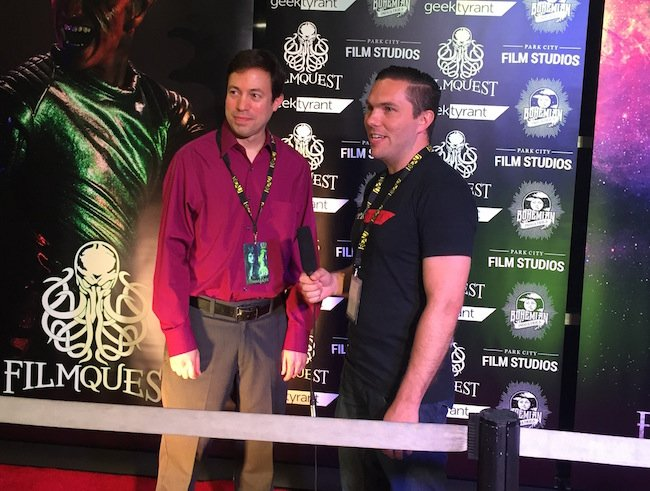 Media time on the red carpet with THE BETTER HALF director Michael Winnick (left).  THE BETTER HALF claimed the Best Actress award for Kathleen Rose Perkins.