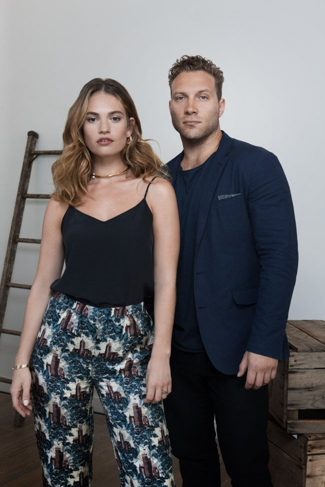 Lily James and Jai Courtney, stars of The Exception (directed by David Leveaux)