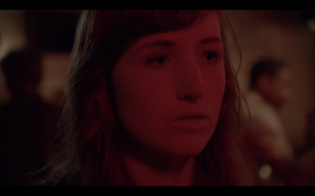 A still from the scene Kate Lyn Sheil
