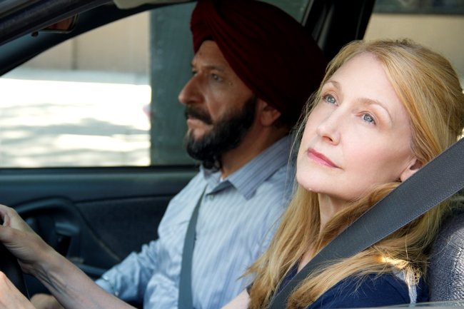 Sir Ben Kingsley and Patricia Clarkson in Learning to Drive. Photograph by Linda Kallerus