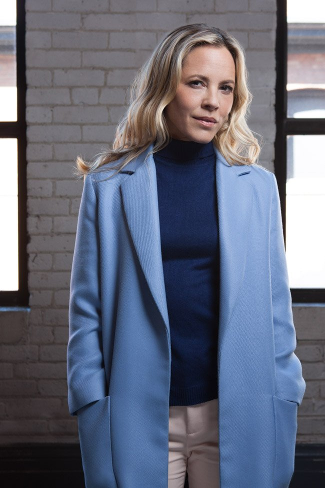 Maria Bello, star of The Journey is the Destination (directed by Bronwen Hughes)