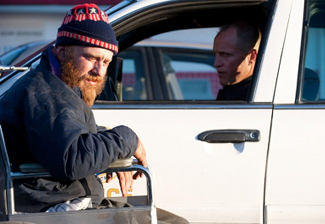 Ben Foster (l) and Woody Harrelson in Oren Moverman's Rampart.