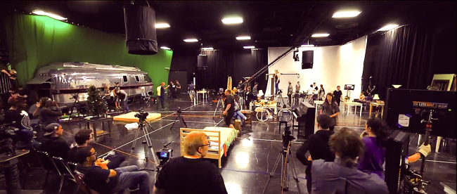 The soundstage at Oklahoma City Community College.